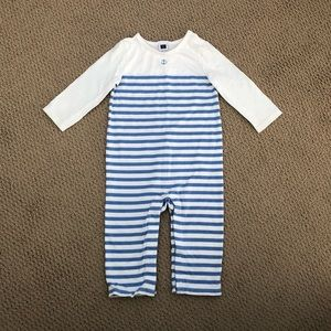 Janie and Jack 6-12 Anchor striped one piece